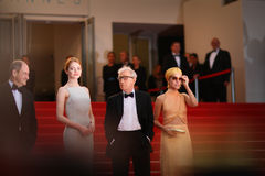Emma Stone, Woody Allen, Parker Posey Royalty Free Stock Images