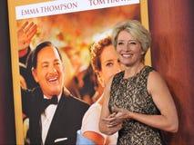Emma Thompson. LOS ANGELES, CA - DECEMBER 9, 2013: Emma Thompson at the US premiere of her movie Saving Mr Banks at Walt Disney Studios, Burbank Royalty Free Stock Photos