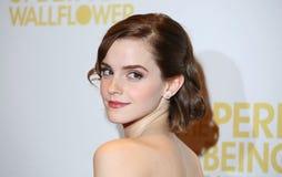Emma Watson, giroflées Photos stock
