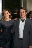 Emma Watson, Matthew Broderick royaltyfri foto