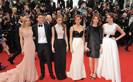 Emma Watson,Sofia Coppola royalty free stock photos