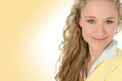 Emma in Yellow Stock Photography