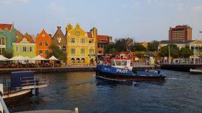 @ Emmabrug en Willemstad, Curaçao fotografía de archivo