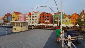 @ Emmabrug w Willemstad, Curaçao Fotografia Royalty Free