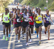 Emmanual Bett from Kenya leads the men at the Lilac Bloomsday 2013 12k Run in Spokane WA Stock Photography