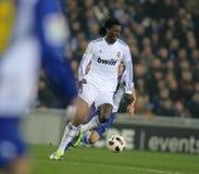 Emmanuel Adebayor of Real Madrid Stock Image