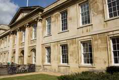 Emmanuel College, Cambridge. The Georgian West Front of Emmanuel College, Cambridge.  Part of Cambridge University, dating back to the sixteenth century.  This Stock Photography