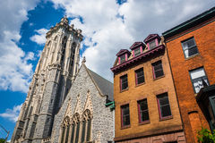 Emmanuel Episcopal Church i Baltimore, Maryland royaltyfri bild