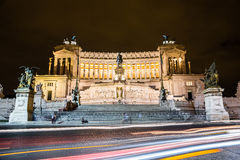 Emmanuel II monument  in Rome Royalty Free Stock Photos