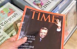 Emmanuel Macron на обложке журнала Тайм Стоковые Изображения