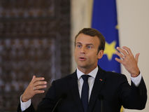 Emmanuel Macron στοκ εικόνες