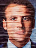 Emmanuel Macron portrait during Second round French Presidential Royalty Free Stock Photo