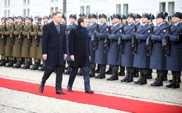 Emmanuel Macron visits Poland and meets with Andrzej Duda