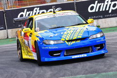 Emmanuel parading during Formula Drift 2010 Royalty Free Stock Photography