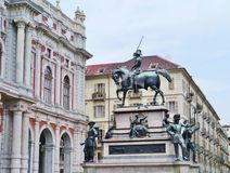 Emmanuel Philibert duke of Savoy in Turin Royalty Free Stock Photography