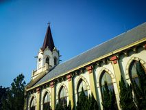 Emmanuel Protestant Church i Malang, East Java Royaltyfria Foton