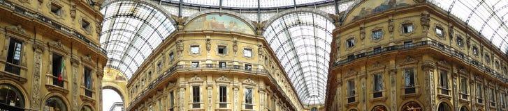 emmanuele στοά ΙΙ vittorio της Ιταλίας Μι&la Στοκ Φωτογραφία