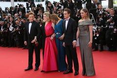 Emmanuelle Bercot,凯撒琳・丹尼芙和伯努瓦Magimel 库存照片
