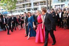 Emmanuelle Bercot, Catherine Deneuve och Benoit Magimel Royaltyfria Foton