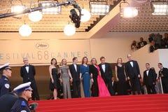 Emmanuelle Bercot, Catherine Deneuve und Benoit Magimel Lizenzfreies Stockbild
