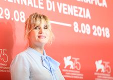 Emmanuelle Seigner attends `At Eternity`s Gate` Stock Photos
