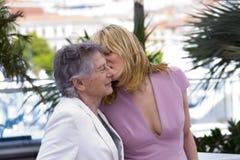 Emmanuelle Seigner e Roman Polanski Imagens de Stock Royalty Free