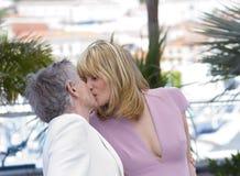 Emmanuelle Seigner et Roman Polanski Photos libres de droits
