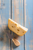 Emmental cheese piece Royalty Free Stock Photo