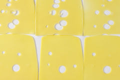 Emmental cheese slices Royalty Free Stock Photo