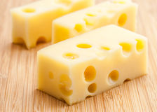 Emmental cheese Royalty Free Stock Photos