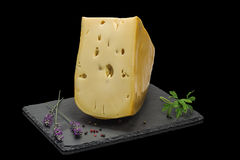 Emmental. Dutch Emmentaler cheese for diets Stock Photography