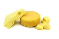 Emmental and kashar cheese Royalty Free Stock Photos