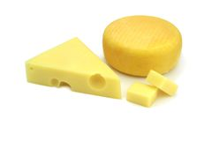 Emmental and kashar cheese Royalty Free Stock Photo
