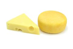Emmental and kashar cheese Royalty Free Stock Photography