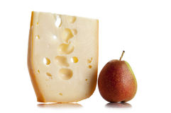 Emmental and pear Royalty Free Stock Photography