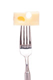 вилка emmentaler сыра Стоковые Изображения RF