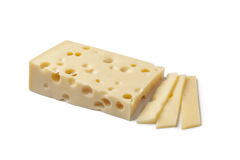 Emmentaler cheese and slices Royalty Free Stock Photography