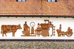 Emmentaler-Schweizer Käsefabrik vom 21. Jahrhundert Lizenzfreies Stockfoto