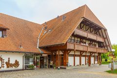 Emmentaler-Schweizer Käsefabrik vom 21. Jahrhundert Stockbild