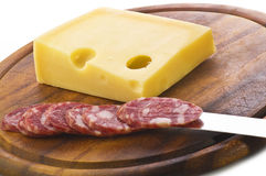 Emmenthal cheese Royalty Free Stock Images