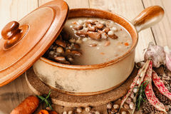 Emmer and barley soup Stock Photos