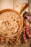 Emmer and barley soup Stock Image