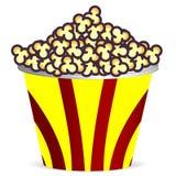 Emmer met popcorn Royalty-vrije Stock Afbeeldingen