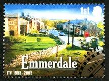 Emmerdale ITV UK portostämpel Royaltyfria Bilder