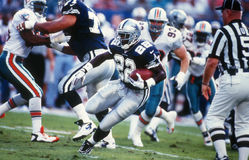 Emmitt Smith Of Dallas Cowboys i handling Arkivbild