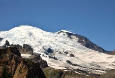 Emmons glacier at Mount Rainier National Park Royalty Free Stock Image
