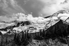Emmons Moraine, Mt. Rainier National Park. Emmons Morraine Trail In Mt. Rainier National Park stock photography
