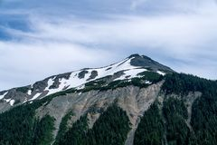 Emmons Moraine, Mt. Rainier National Park. Emmons Morraine Trail In Mt. Rainier National Park royalty free stock photography