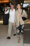Emmy Rossum d'actrice et ami Tyler Jacob chez LAX Images libres de droits