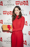 Emmy Rossum. New York, NY, USA - November 30, 2015: Actress Emmy Rossum attends GODIVA's kick-off to HOT CHOCOLATE FOR A CAUSE, benefiting Toys for Tots Stock Image